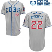 Men's Majestic Chicago Cubs #22 Addison Russell Replica Alternate Road Cool Base MLB Jersey