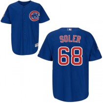 Youth Jorge Soler Replica Jersey - Majestic Chicago Cubs #68 Alternate MLB